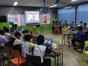 SK Bandar Hilir blended learning frog classroom