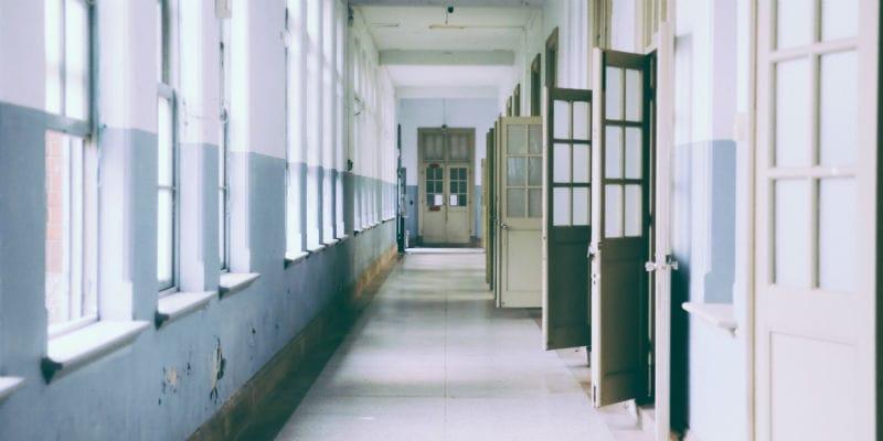 School hallway 800 x 400